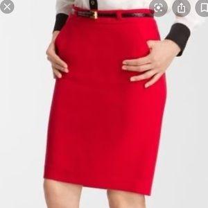 Trina Turk red skirt